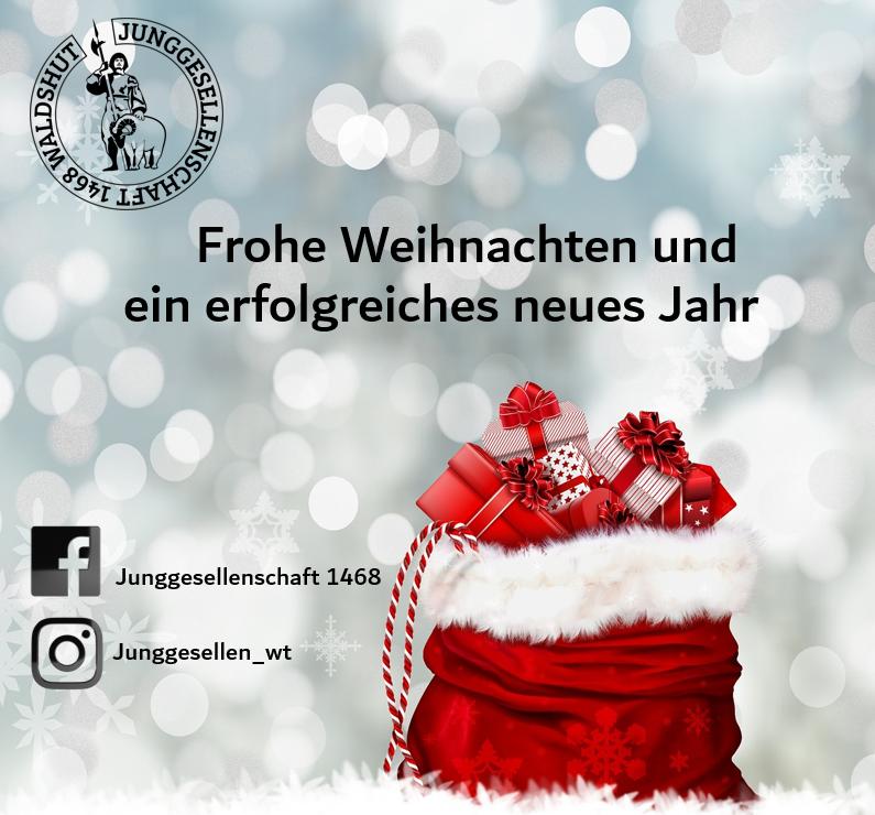 Wir Wünschen Euch Frohe Weihnachten Und Ein Gutes Neues Jahr.Frohe Weihnachten Junggesellen 1468 Waldshut